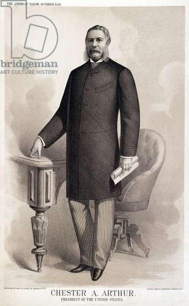 Chester A. Arthur, President of the United States, Full-Length Portrait, Buek & Lindner, 1881 (litho)