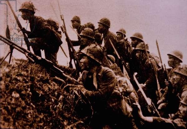 Japanese Soldiers, Sino-Japanese War, China, 1937