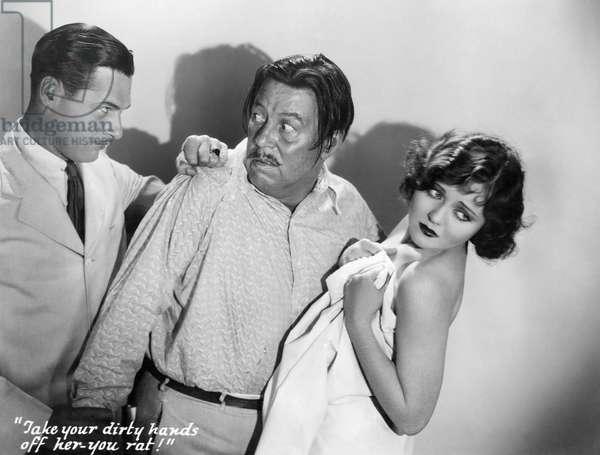"""Richard Arlen, Warner Oland, Nancy Carroll, on-set of the Film, """"Dangerous Paradise"""", 1930"""