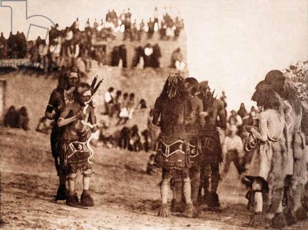 "Snake Dancer and ""Hugger"",  Moki Tribe, Arizona, 1921"