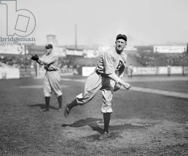 Grover Cleveland Alexander, Major League Baseball Player, Philadelphia Phillies, Half-Length Portrait, Bain News Service, 1911 (b/w photo)
