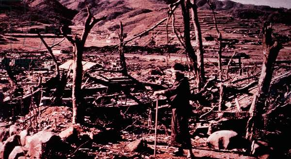 Destruction of Nagasaki, Japan After Atomic Bomb Explosion, 1945