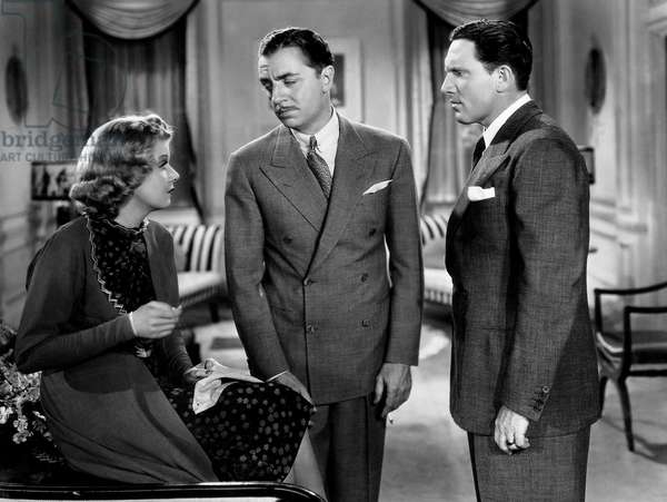 """Jean Harlow, William Powell, Spencer Tracy, on-set of the Film, """"Libeled Lady"""", 1936"""