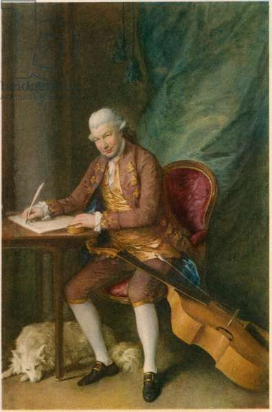 Karl Friedrich Abel (1723-1787), German Composer, Portrait by Thomas Gainsborough
