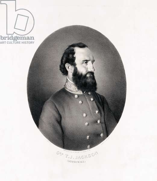 "General T.J. ""Stonewall"" Jackson, printed by Charles White, published by George E. Perine, 1863 (litho)"
