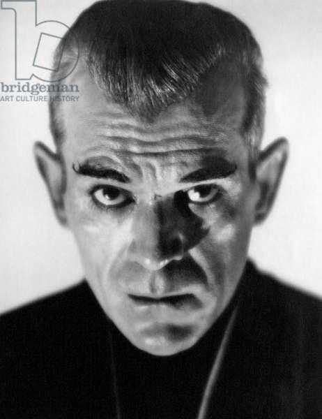 "Boris Karloff, Portrait, on-set of the Film, ""The Black Cat"", 1934"