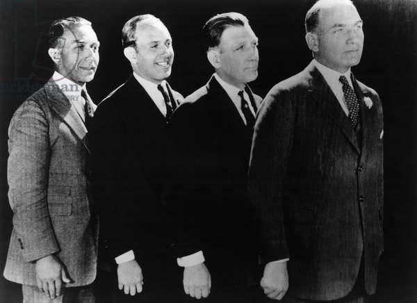 The Warner Brothers, Harry, Jack, Sam, and Albert, Film Executives at Warner Brothers Studios, Portrait, c.1920's