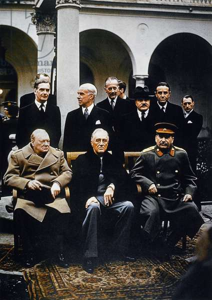 Winston Churchill, Joseph Stalin & Franklin Roosevelt at the Yalta Conference, 1945