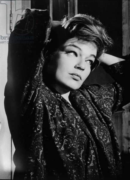 Simone Signoret, on set of the Film 'Games', 1967 (b/w photo)