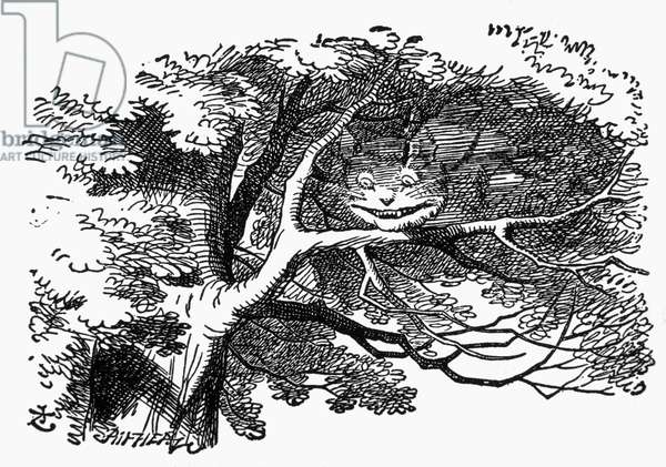 Cheshire Cat, Alice's Adventure in Wonderland by Lewis Carroll, Illustration, c. 1865