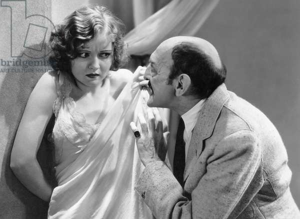 """Nancy Carroll, Clarence Wilson, on-set of the Film, """"Dangerous Paradise"""", 1930"""