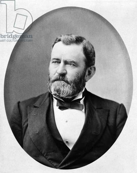 Ulysses S. Grant (1822-85), 18th President of the United States 1869-77, General of Union Army during American Civil War, Head and Shoulders Portrait, 1880 (b/w photo)