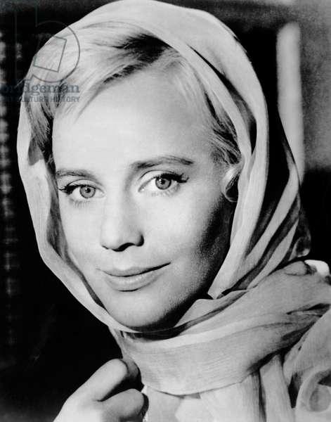 "Maria Schell, on-set of the Film, ""Duel in the Forest"" (aka Der Schinderhannes), 1958"