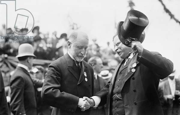 Mayor William Gaynor and Teddy Roosevelt at Parade, New York City, New York, USA, Bain News Service, June 23, 1910