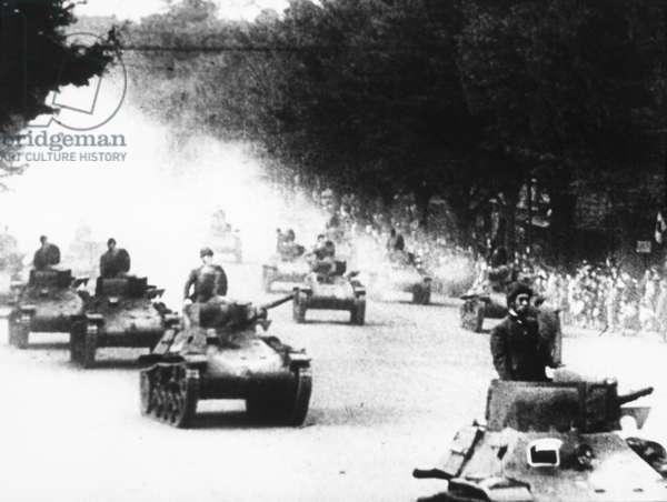 Japanese Tanks in China during Second Sino-Japanese War, circa 1937
