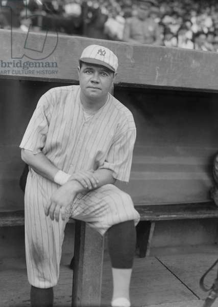 Babe Ruth, Major League Baseball Player, Portrait, New York Yankees, Bain News Service, circa 1921