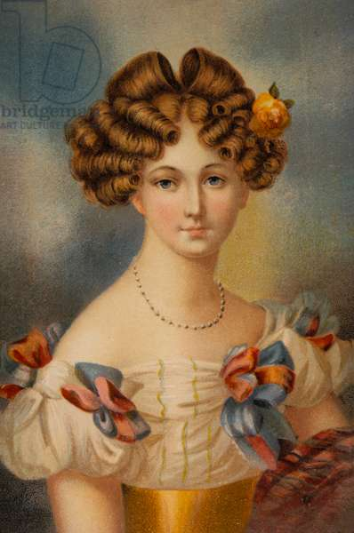 Auguste von Harrach, Countess of Hohenzollern, Princess of Liegnitz (1800-1873). Married to King Frederick William III of Prussia, Portrait