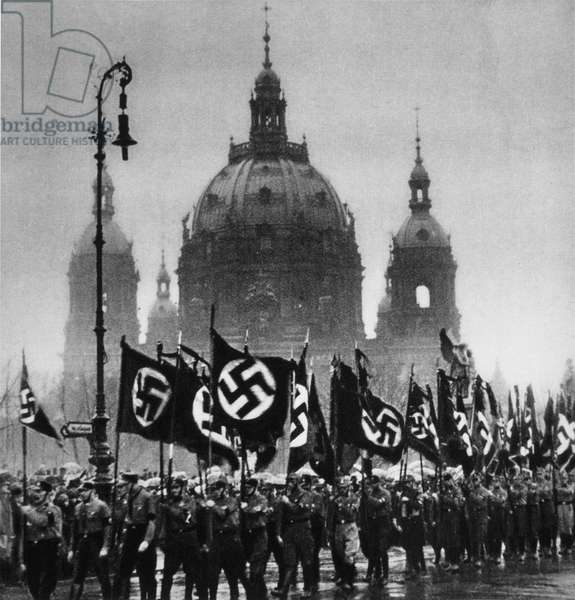 Nazi Funeral March, Berlin, Germany, January, 30, 1933