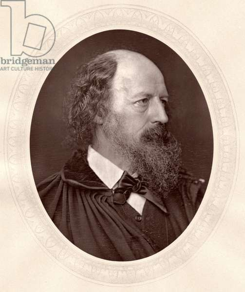 Alfred, Lord Tennyson (1809-92), Noted English Poet, Portrait, c.1870