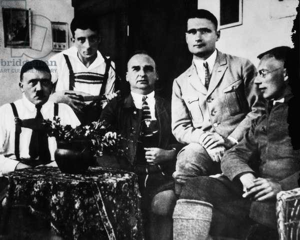 Adolf Hitler with Emil Maurice, Herman Kriebel, Rudolf Hess & Friedrich Weber, 1925
