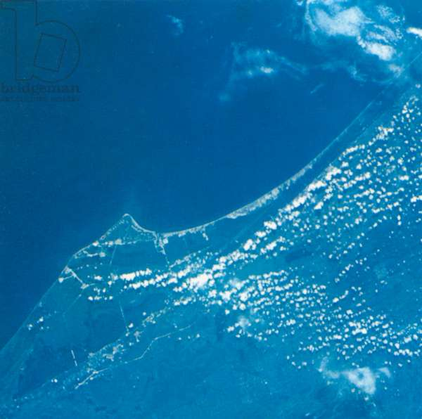 Aerial View of Cape Kennedy, Florida, USA and Vicinity, Taken from Gemini V Spacecraft, August 28, 1965
