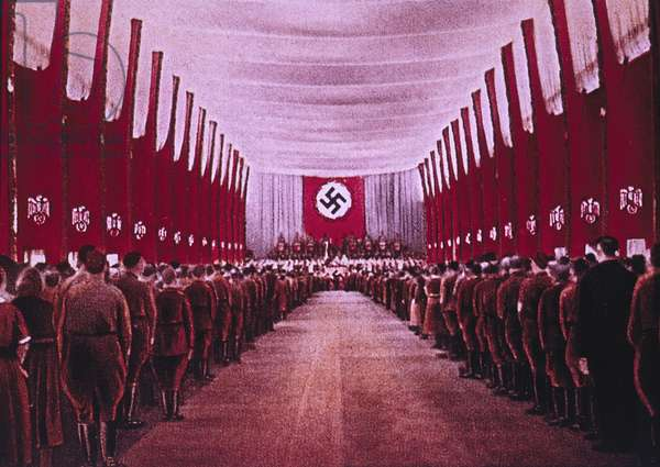 SA Troops in Congress Hall, Nuremberg, Germany, 1933