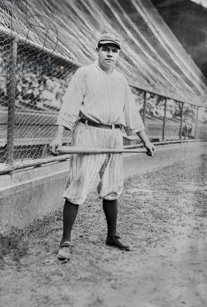 Babe Ruth, Major League Baseball Player, New York Yankees, Portrait, Bain News Service, 1921 (b/w photo)