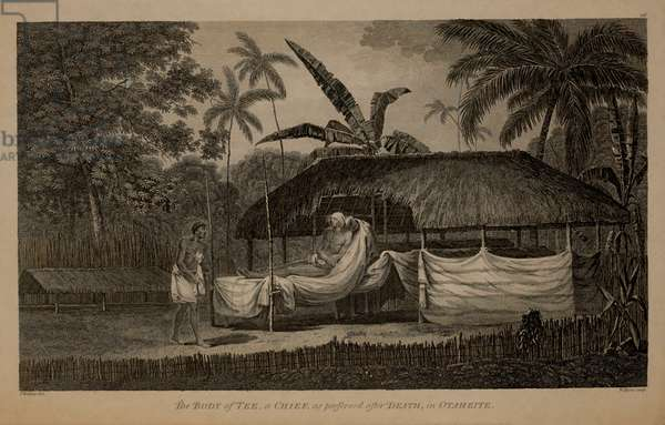 The Body of a Tee, a Chief, as Preserved after Death, in Otaheite,  1784 Engraving by W. Byrne