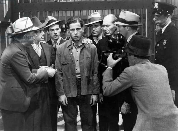 "Humphrey Bogart, Lee Phelps amongst Group of Reporters, on-set of the Film, ""Black Legion"", 1937"