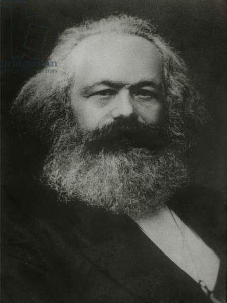 Karl Marx (1818-1883), German Philosopher,1875, Portrait