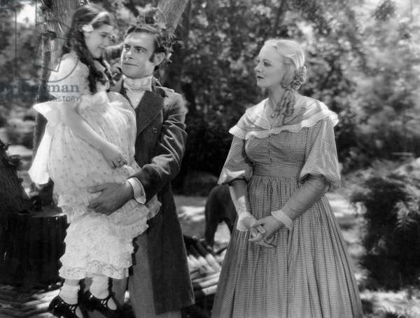 "Edith Fellows, Colin Clive, Virginia Bruce, on-set of the Film ""Jane Eyre"", 1934"