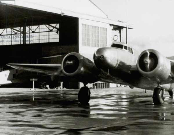Amelia Earhart's Lockheed Electra Airplane, Honolulu Airport, Hawaii, March 20, 1937