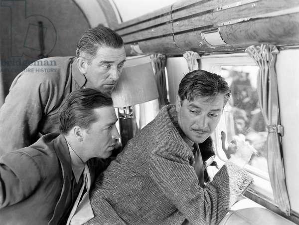 "Edward Everett Horton, John Howard, Ronald Colman, on-set of the Film, ""Lost Horizon"", 1937"