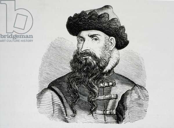 Johann Gutenberg (1397-1468), Portrait, Engraving, 16th Century