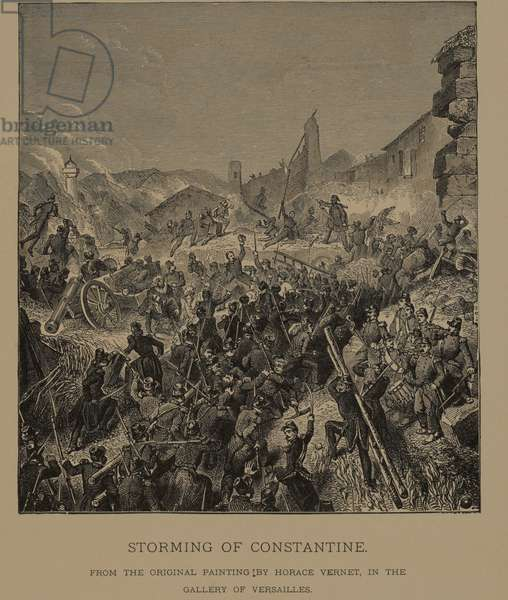 Storming of Constantine, from The Masterpieces of French Art by Louis Viardot, Published by Gravure Goupil et Cie, Paris, 1882, Gebbie & Co., Philadelphia, 1883 (woodcut engraving)