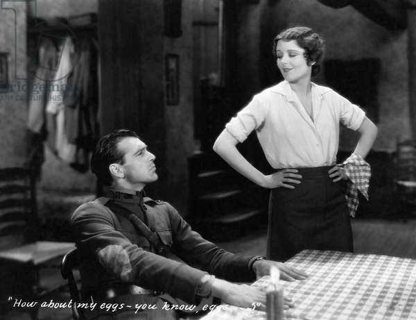 """Gary Cooper, June Collyer, on-set of the Film, """"A Man From Wyoming"""", 1930"""