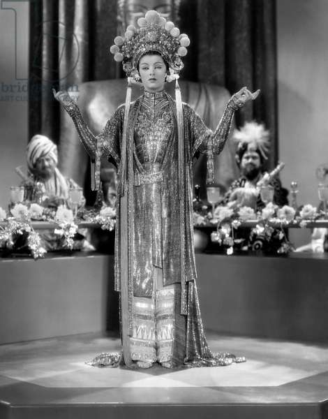Myrna Loy, on-set of the Film,