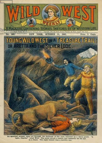 Cover of Wild West Weekly Magazine, No. 260, October 11, 1907
