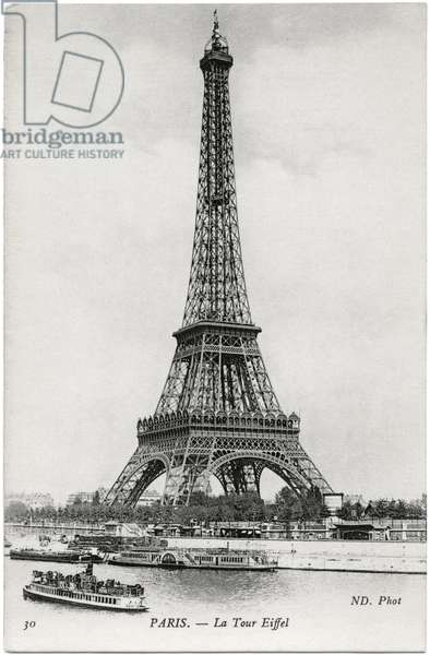 View of the Eiffel Tower, c.1905 (b/w photo)