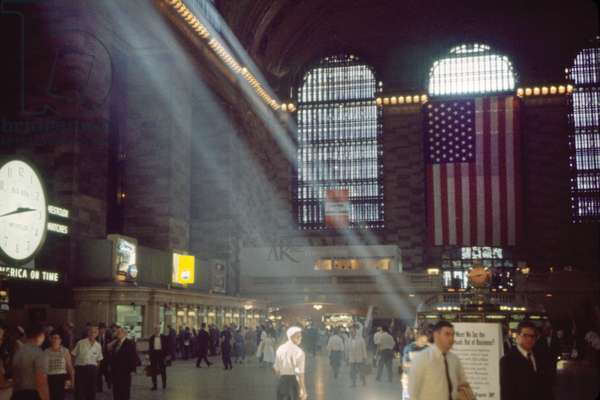 Grand Central Terminal, Main Concourse, New York City, New York, USA, July 1961
