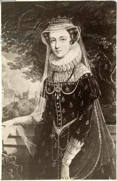 Mary, Queen of Scots (1542-1587), also known as Mary Stuart or Mary I of Scotland, Portrait at Age 27