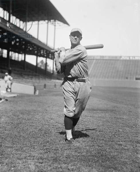 George Sisler, Major League Baseball Player, Saint Louis Browns, Portrait, 1924 (b/w photo)