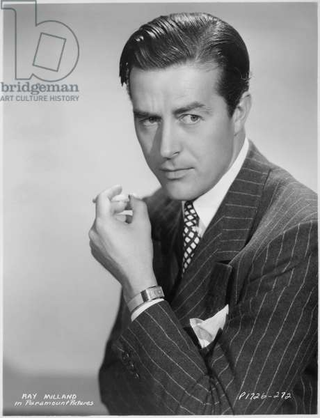 Ray Milland, Publicity Portrait with Cigarette, Paramount Pictures, 1938 (b/w photo)