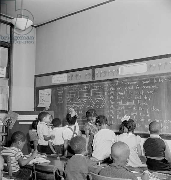 Students in Elementary School Classroom, Washington DC, USA, Marjorie Collins for Farm Security Administration, March 1942