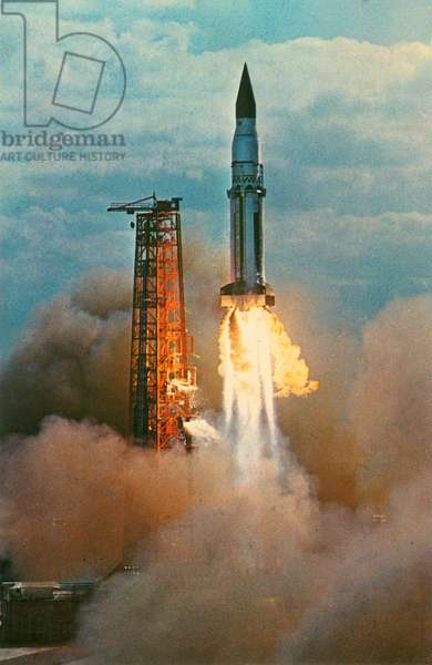 Launch of Saturn SA-5 Spacecraft, Cape Kennedy, Florida, USA, January 29, 1965, Postcard