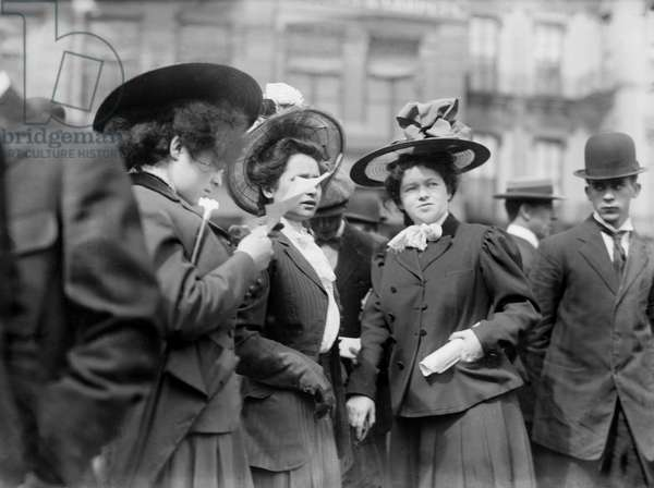 Female Socialists at Rally, Union Square, New York City, New York, USA, Bain News Service, May 1, 1908