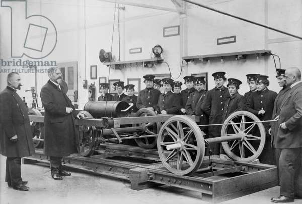 German Women Being Trained to Become Street Car Drivers during World War I, Berlin, Germany, Bain News Service, 1915 (b/w photo)