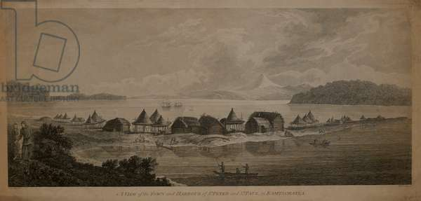 A View of the Town and Harbour of St. Peter and St. Paul, in Kamtschatka, 1784 Engraving by B.T. Pouncy