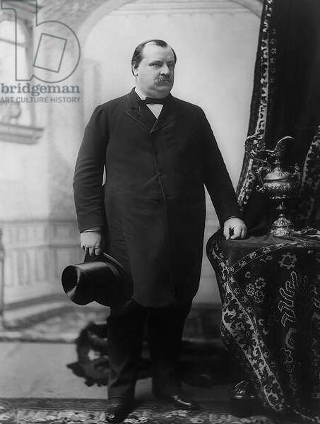 Grover Cleveland (1837-1908), 22nd and 24th President of the United States 1885–89 and 1893–97, Full-Length Portrait, 1888 (b/w photo)