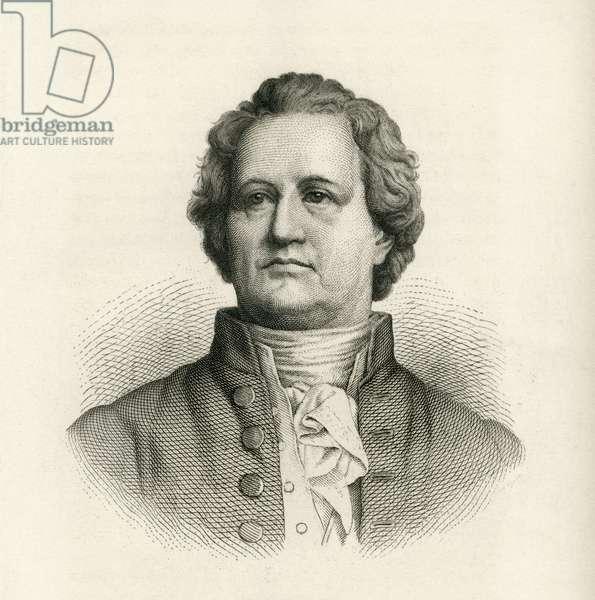 Johann Wolfgang von Goethe (1749-1832), German Writer and Statesman, Portrait, Engraving, 1873